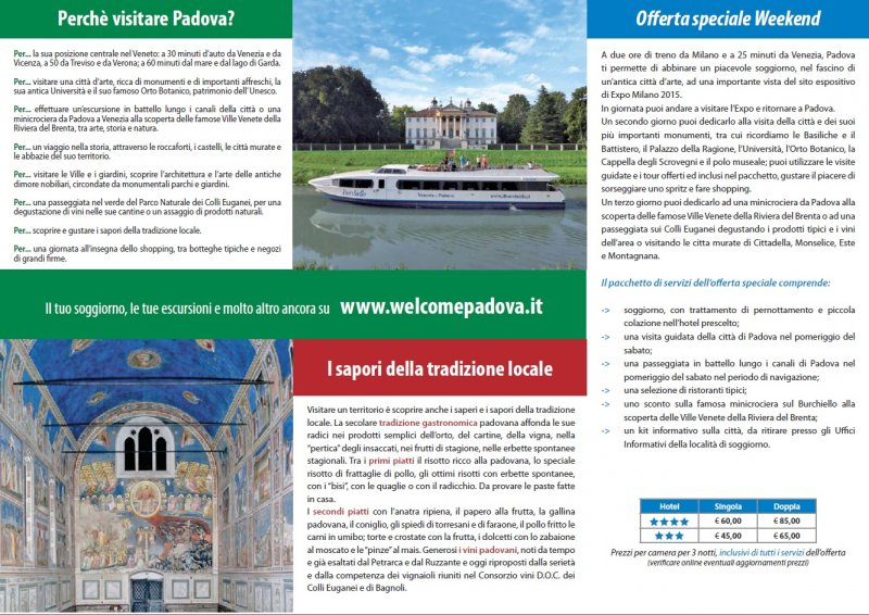 Weekend a Padova EXPO 2015